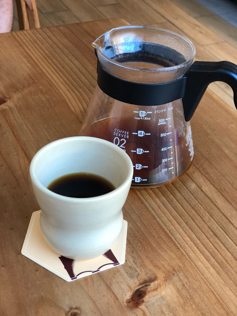 Neira serves their V60 with a chilled cup
