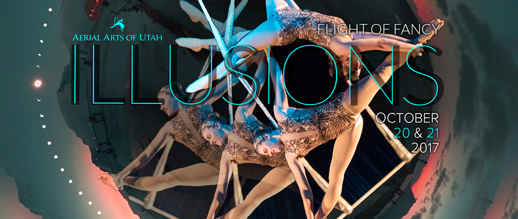 Aerial Arts of Utah Presents Flight of Fancy: Illusions at the Rose Wagner Black Box Theater October 20 & 21.