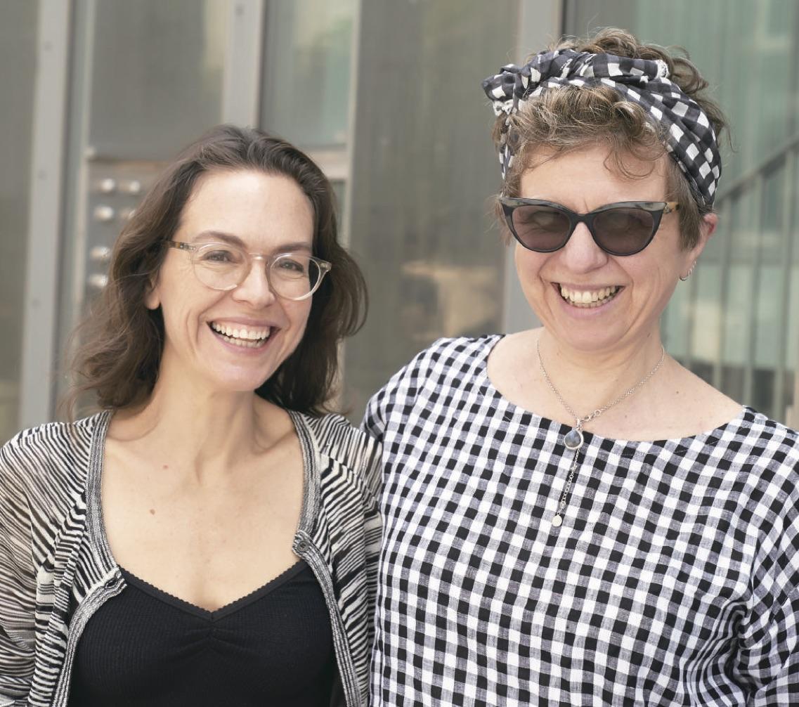 Samantha Lang and fellow Jury member Lizzie Francke