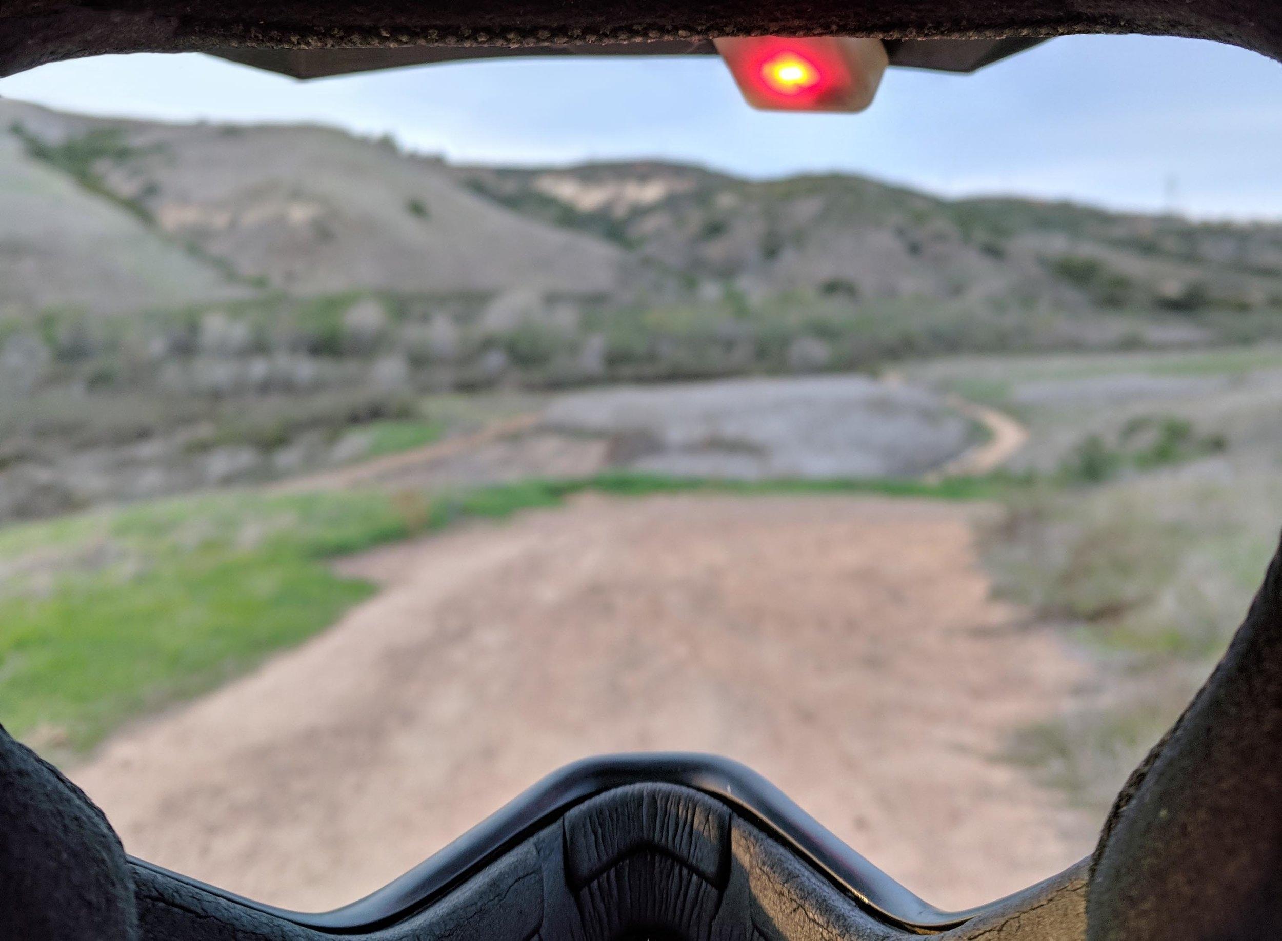 Smashlaps along for the ride at Rancho Penasquitos, San Diego.