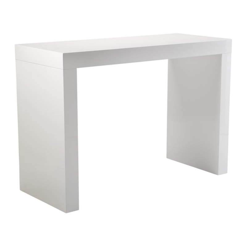 High Gloss White Bar Table