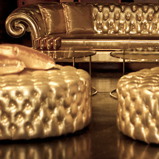 Gold Chesterfield Lounge