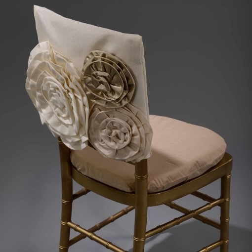 Ivory Rose Luxury Chair Cover