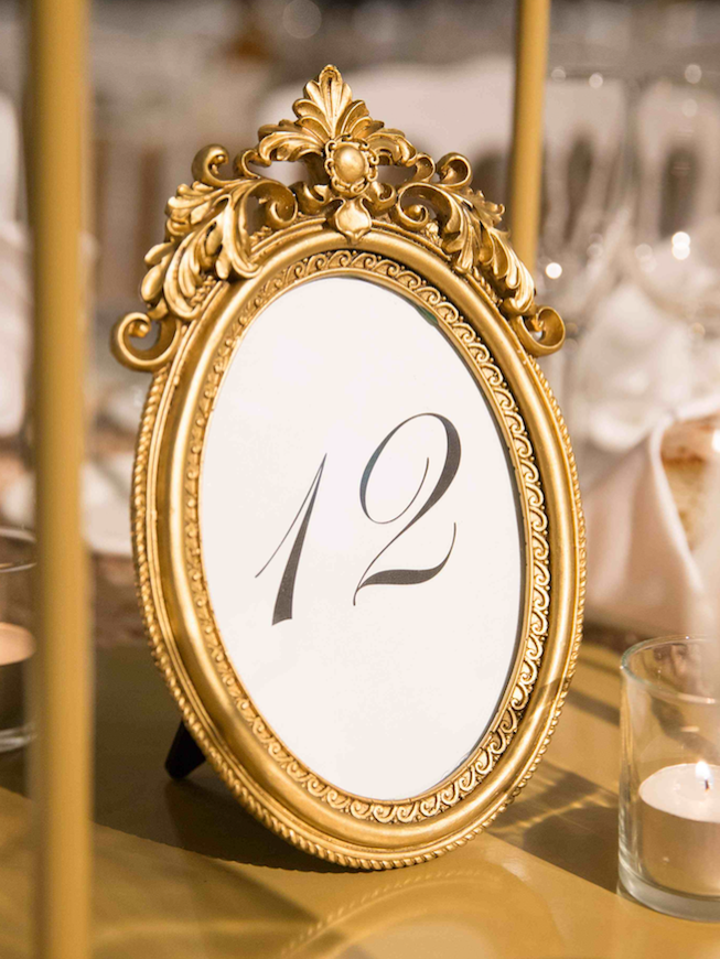 Ornate Oval Table Numbers