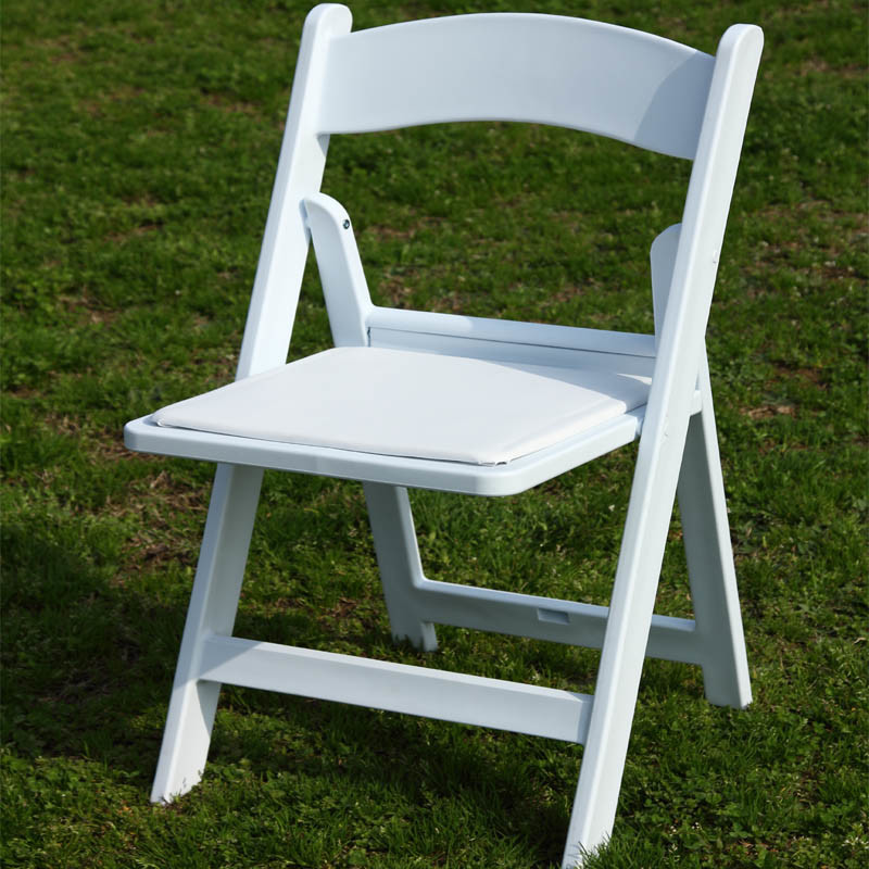 White Fold Up Padded Chair
