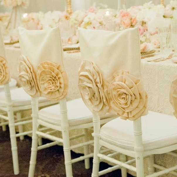 Ivory Rose Luxury Chair Cap