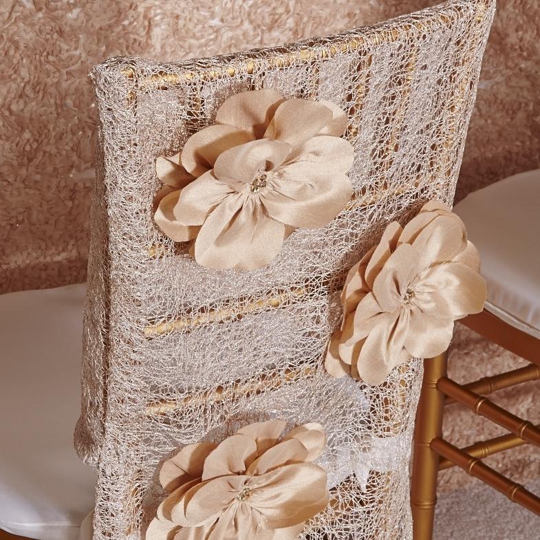 Champagne Heather Luxury Chair Cap