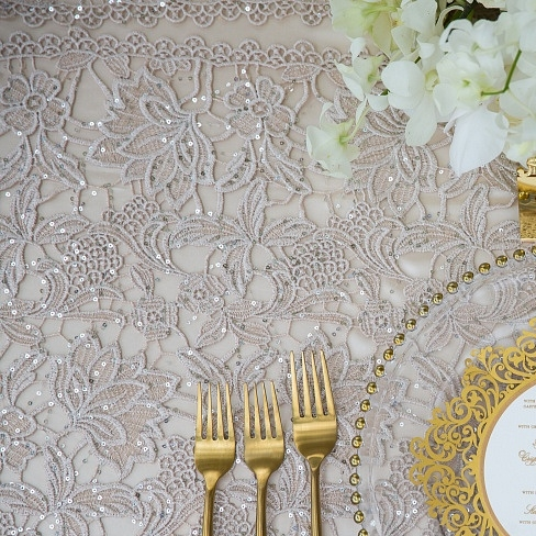 French Lace Luxury Linen