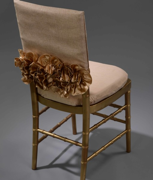 Gold Sofia Luxury Chair Cap and Band