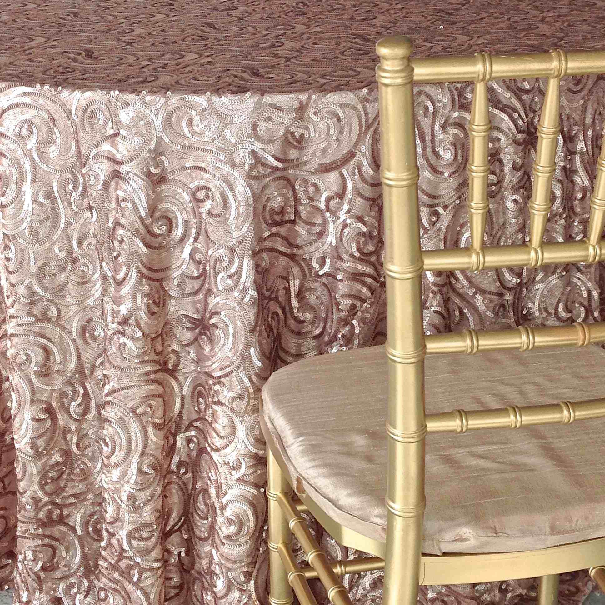 Champagne Paisley Luxury Linen