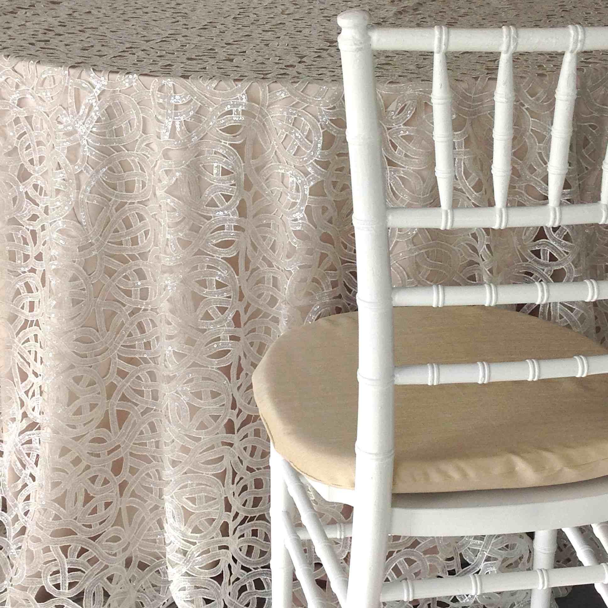 Off White Shimmer Luxury Linen