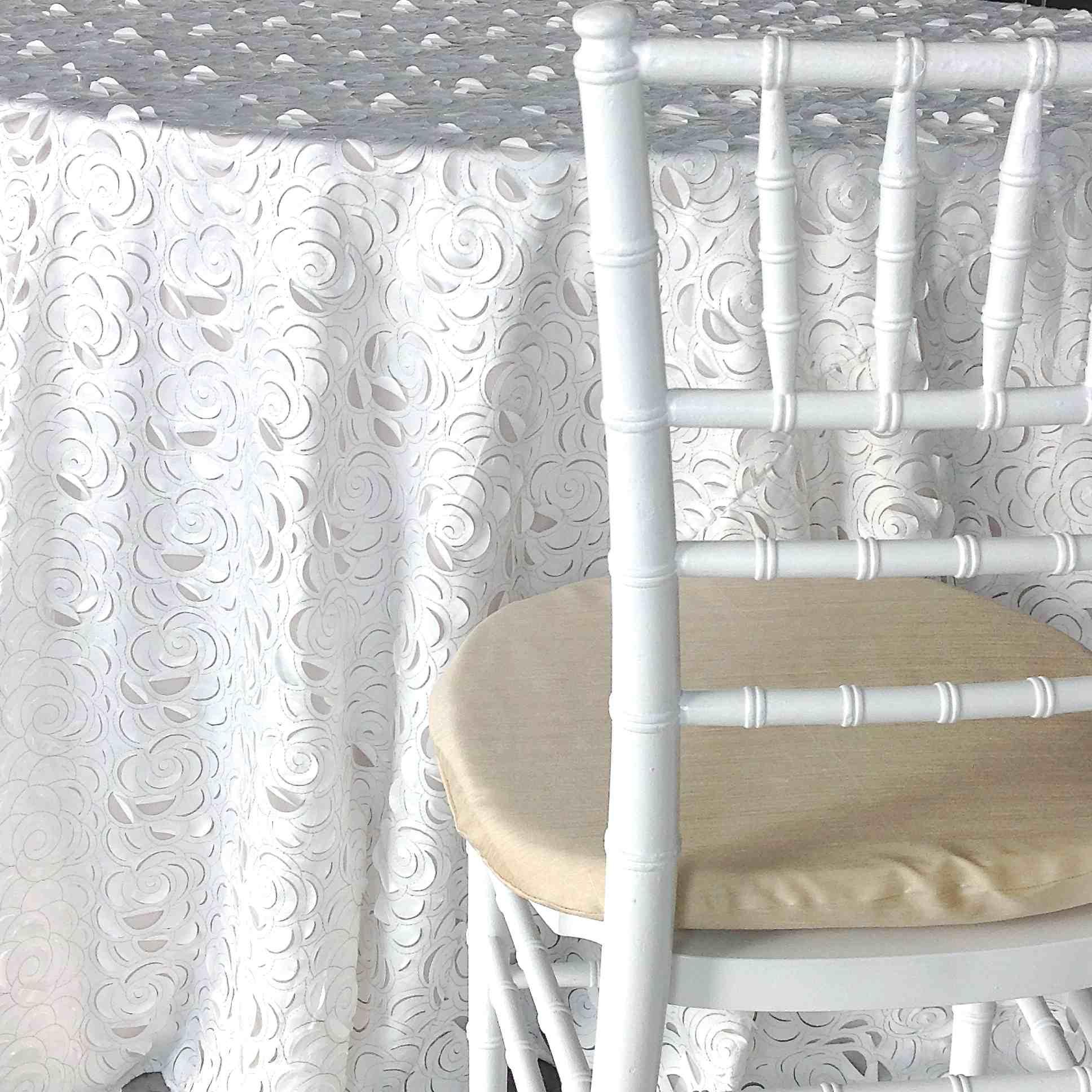 White Fiori Luxury Linen