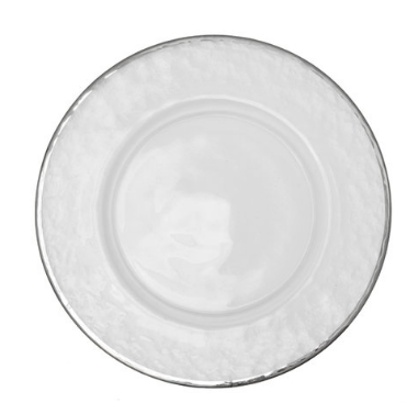 Silver Rim Charger Plate