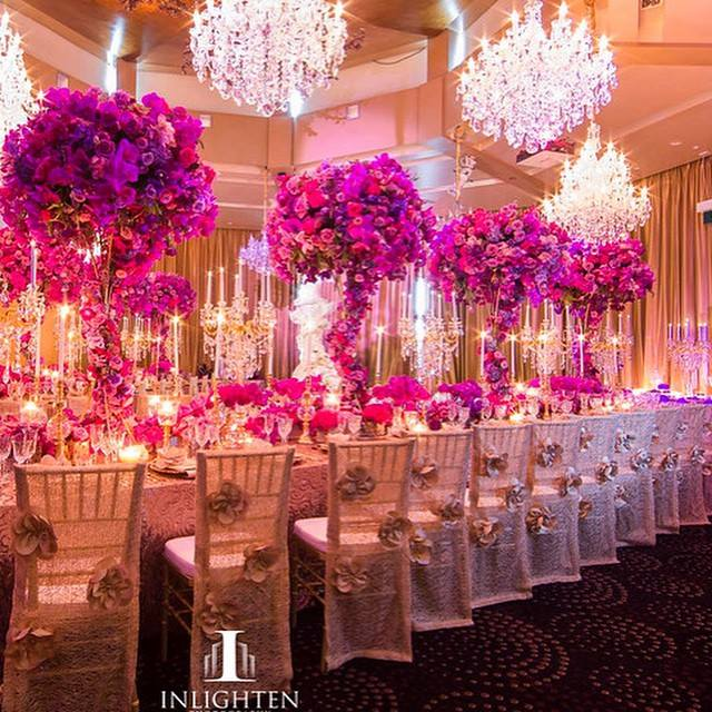 L'Aqua - Gold Room - Karen Tran gala dinner - Preston baily luxury linen, tiffany chairs and gold accent table centrepieces with florals - Image 2.jpg