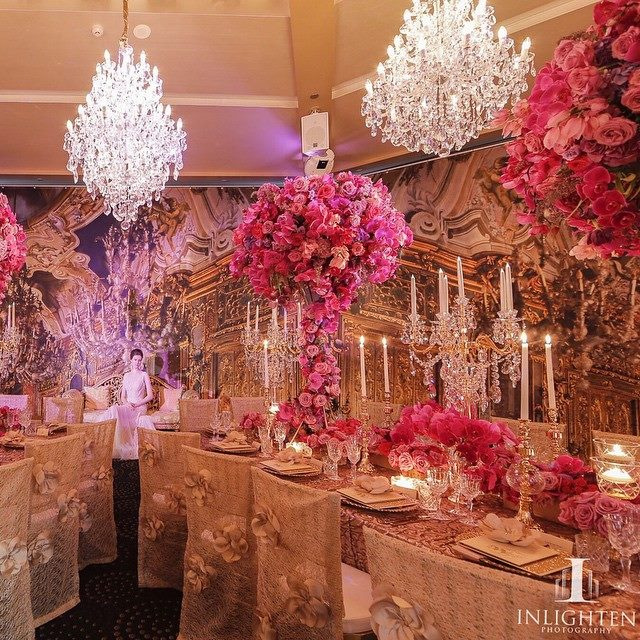 L'Aqua - Gold Room - Karen Tran gala dinner - Preston baily luxury linen, tiffany chairs and gold accent table centrepieces with florals - Image 3.jpg