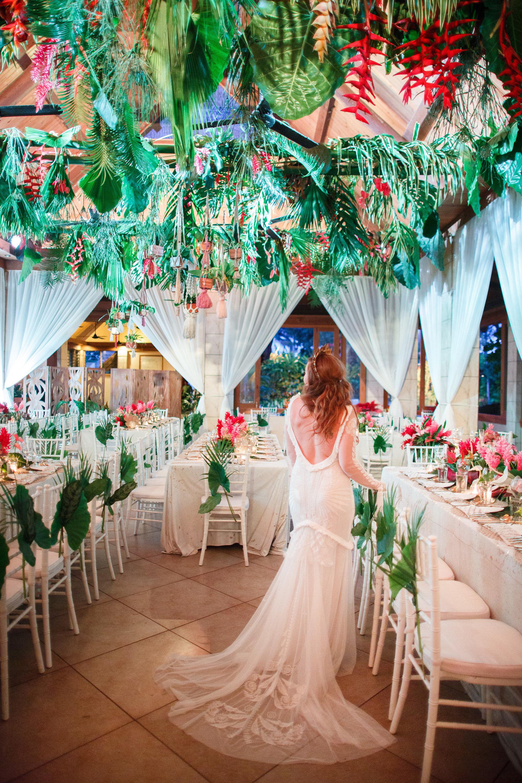 Fiji wedding - ceiling installation, white Tiffany chairs, luxury linen.jpg