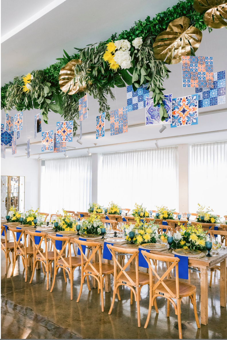 Special_event_activation_event_decor_event activation_positano_theme_menu_yellow_blue_hanging_tiles 1.png