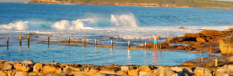 Mahon Pool - Another favourite spot to splash around! Definitely one for the locals with a relaxed community vibe! Pick your spot on the rocks and listen to those waves. Maroubra, NSW.#heaven