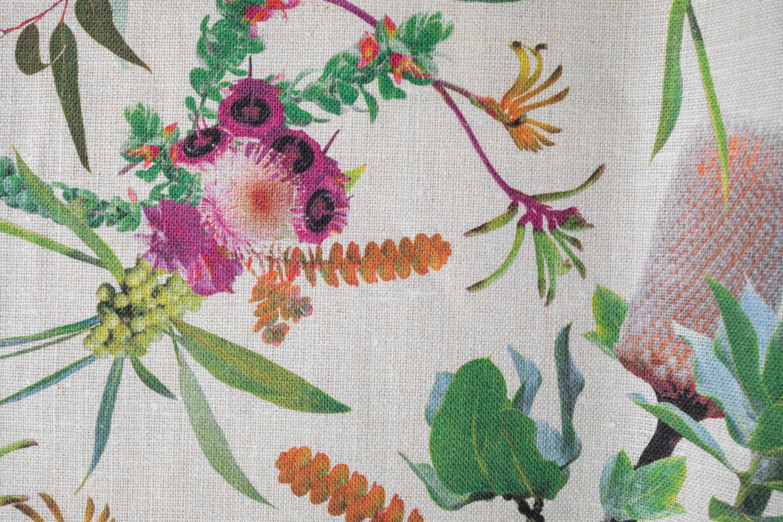 Garden Orange fabric