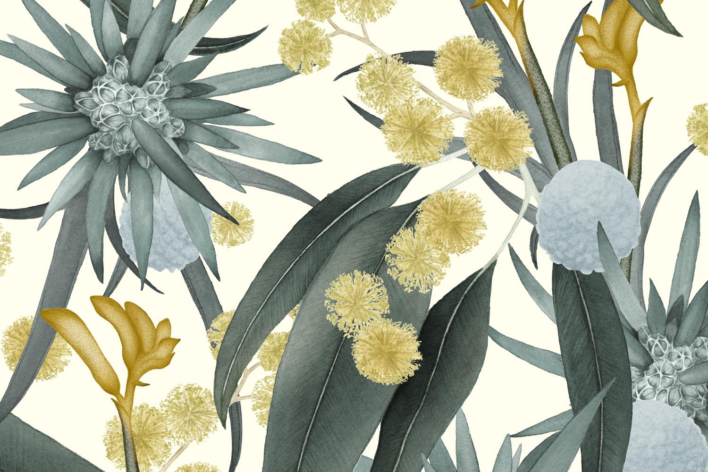 Louise Jones Stellar Marigold wallpaper