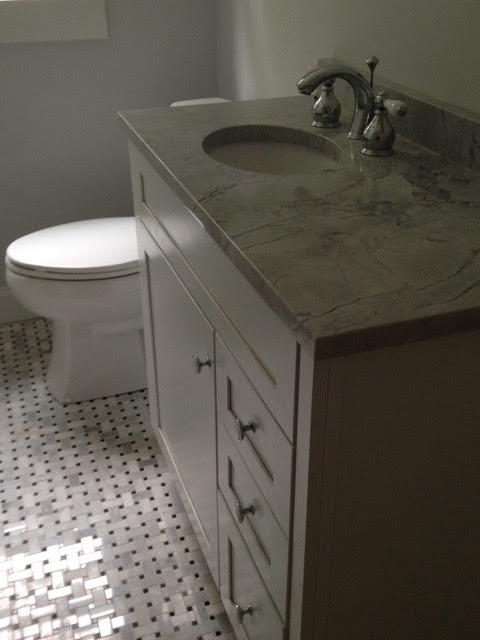 After: updated bathroom sink