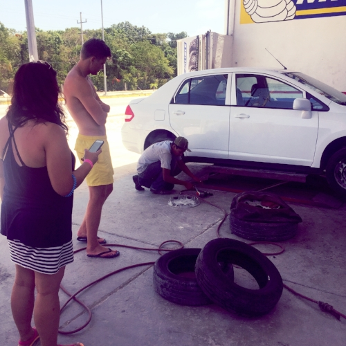 Car trouble on our first visit