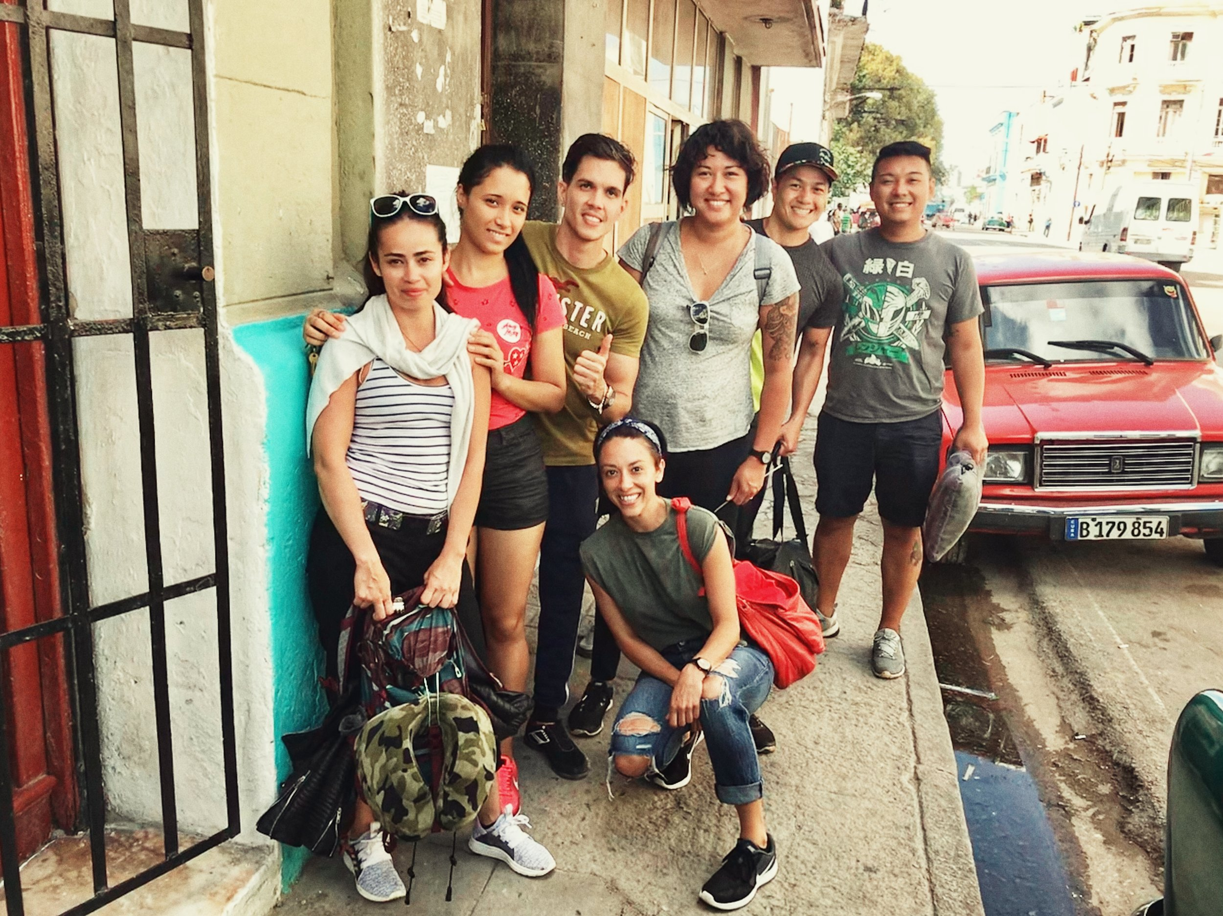 with our Airbnb hosts in Havana, Jose and Yanetsi