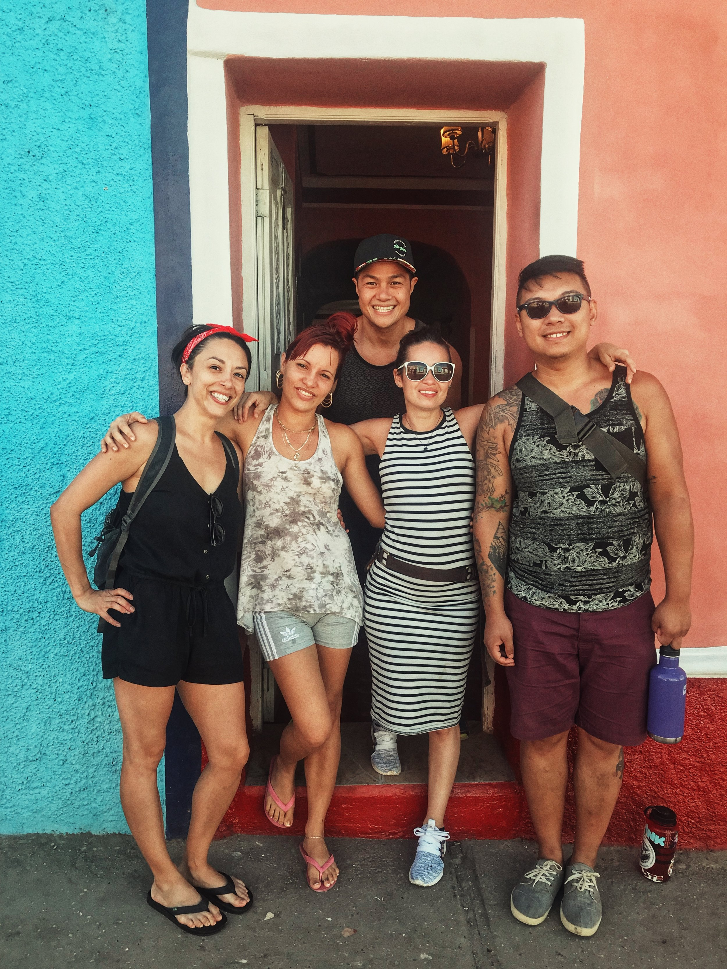 With our Airbnb host from Trinidad, Kati.