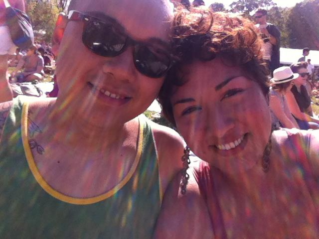 We bonded together by our love of food. This was taken at The GoogaMooga Festival in Prospect Park.