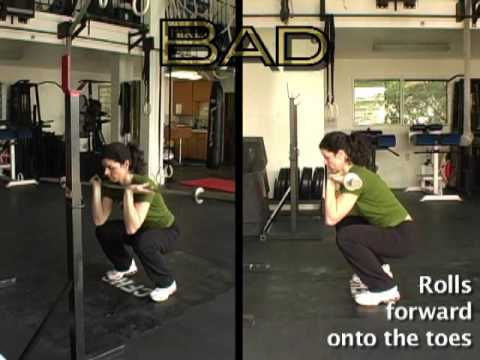 Rounded, Forward Front Squat