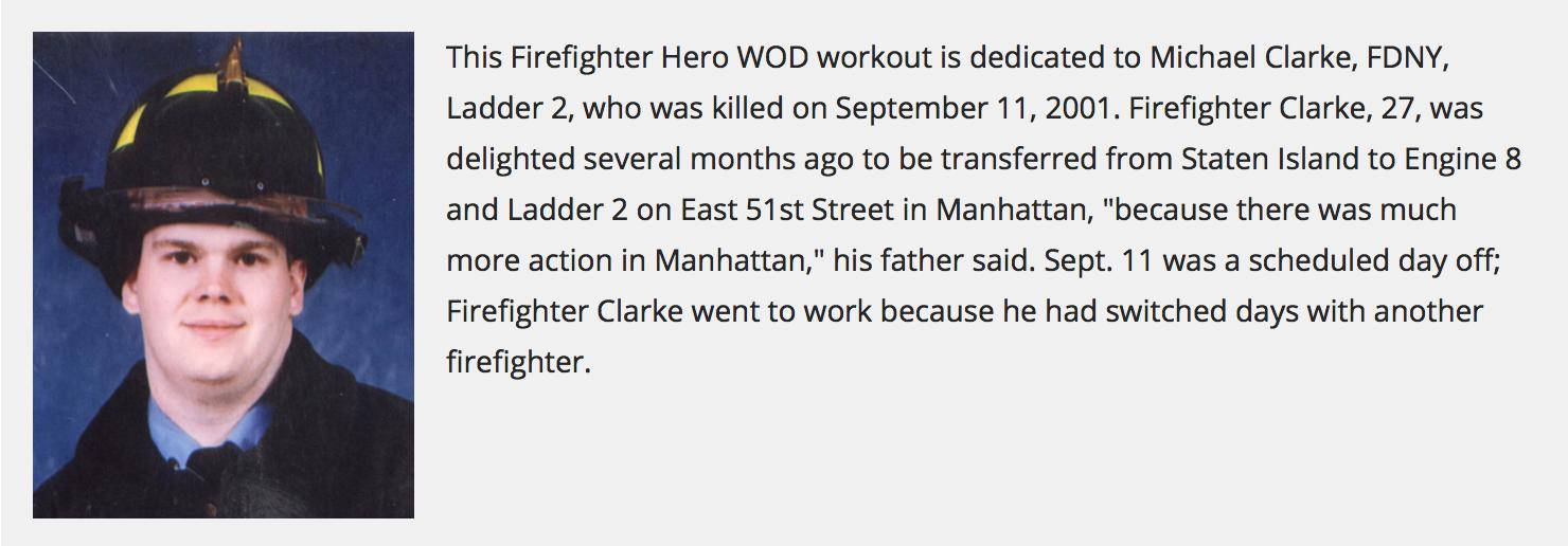 In honor of Michael Clarke.