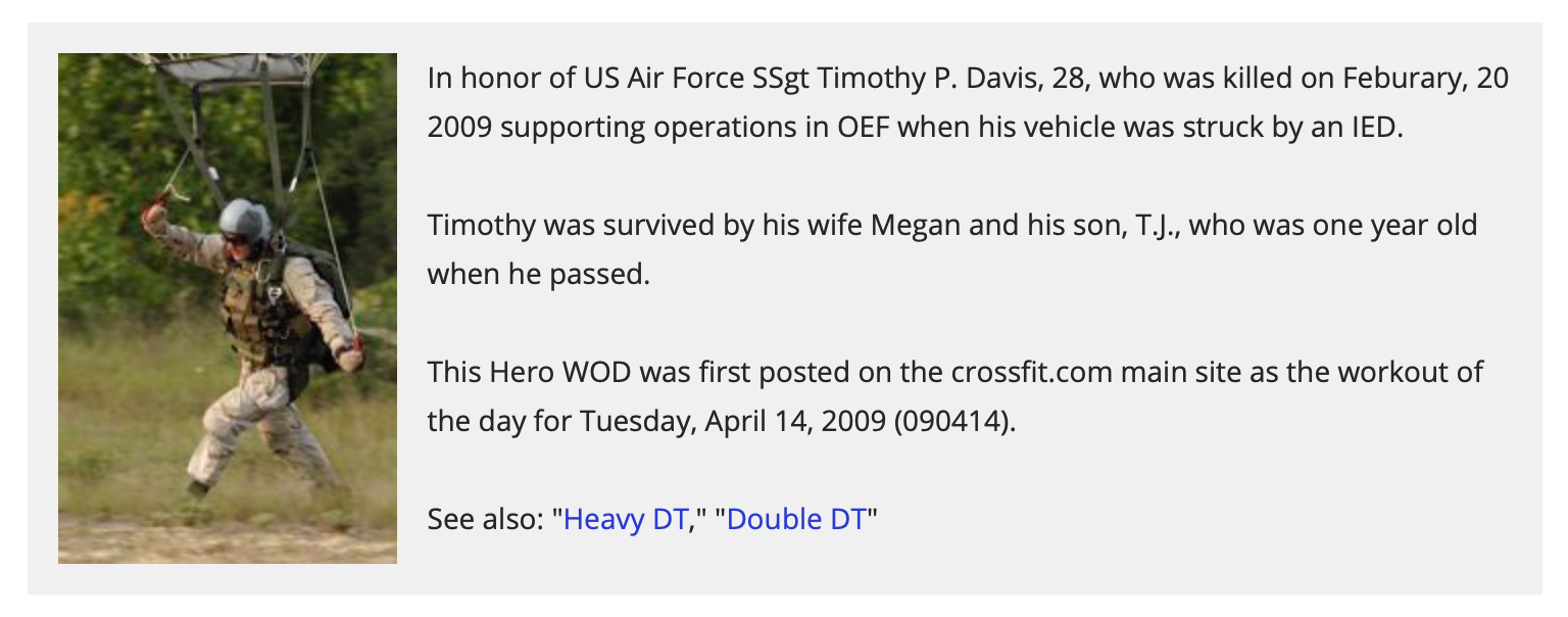 """Hero WOD """"DT"""""""