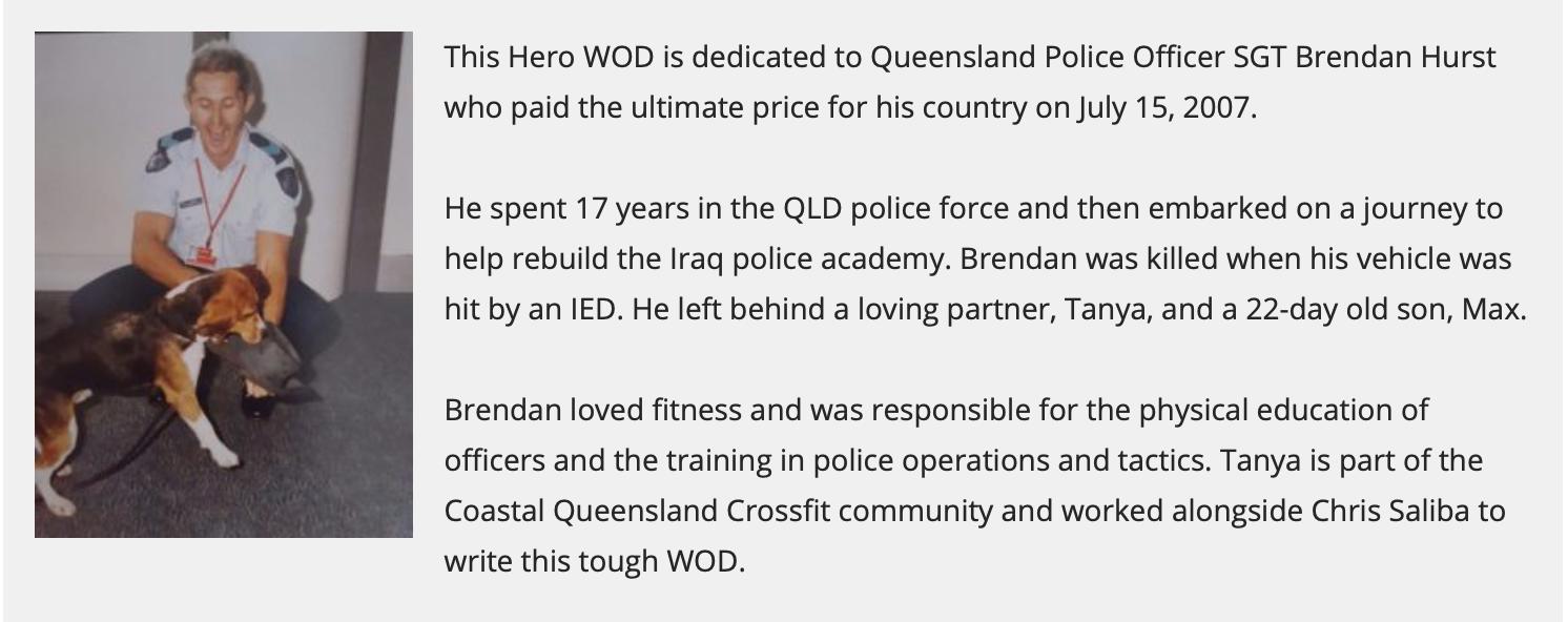 """Hero WOD """"Hursty"""""""