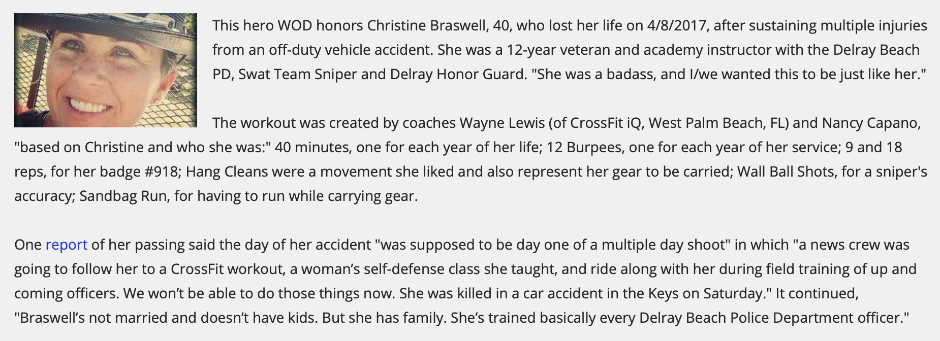 "Hero WOD ""Braswell"""