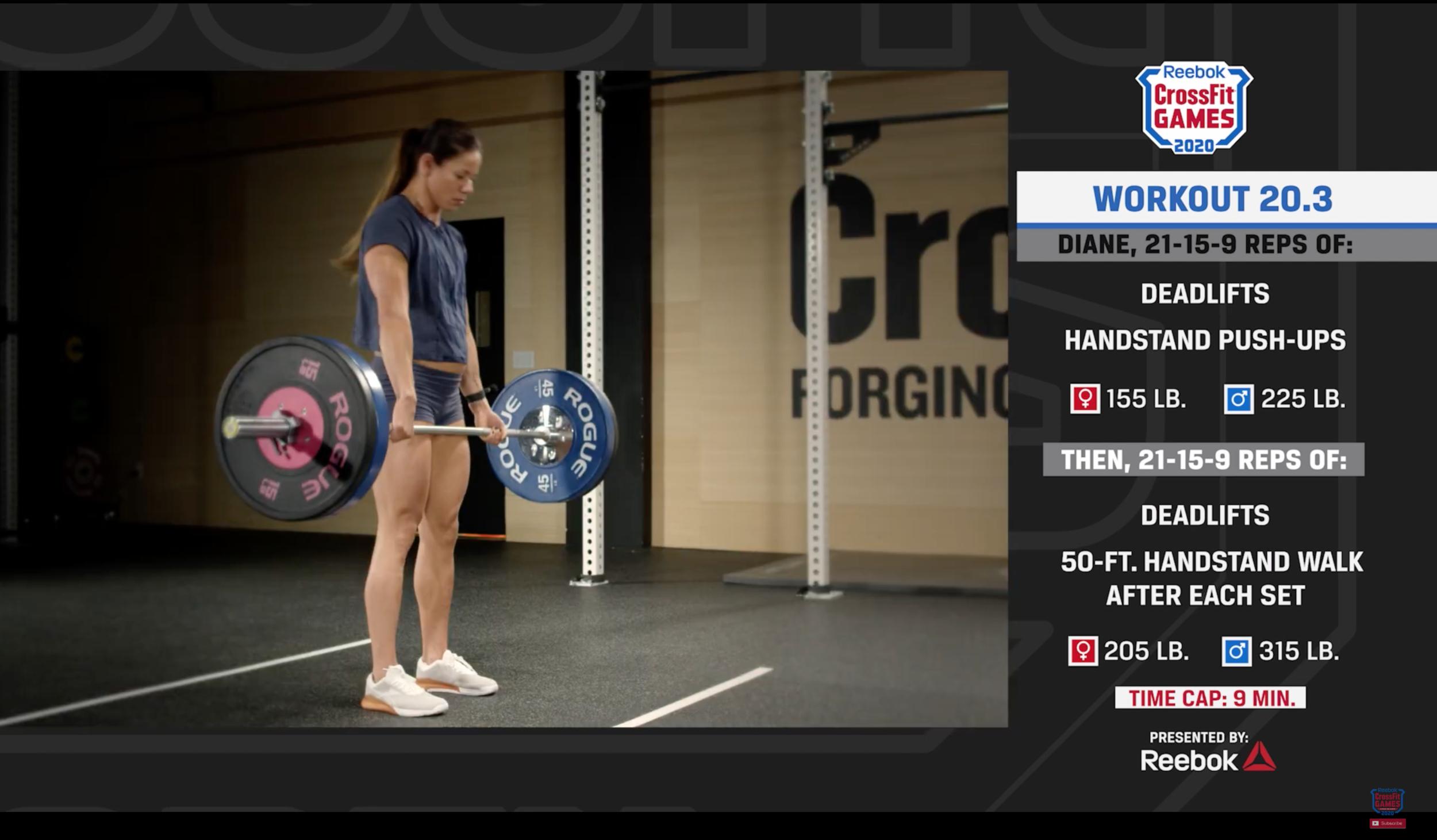CrossFit Open WOD 20.3