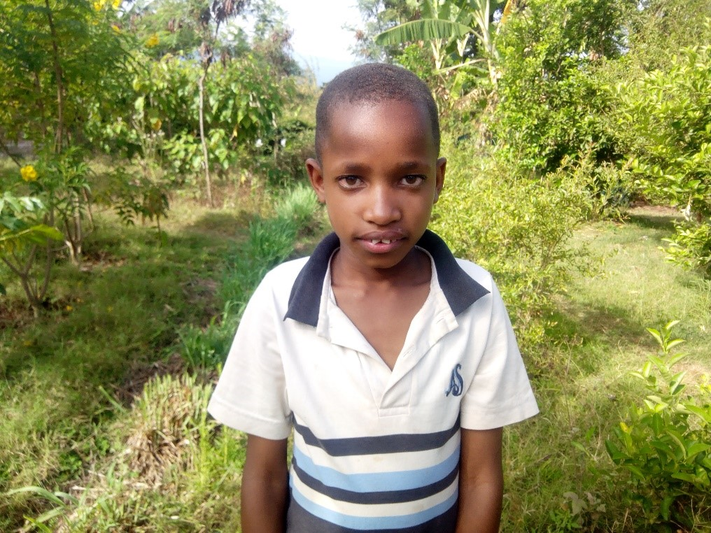 Tumaini - Jambo! Jambo! My name is Tumaini, I am 10 years old. I like eating chips. I enjoy playing football and learning Mathematics. I don't enjoy when am hungry. When I grow up I would like to become a footballer.