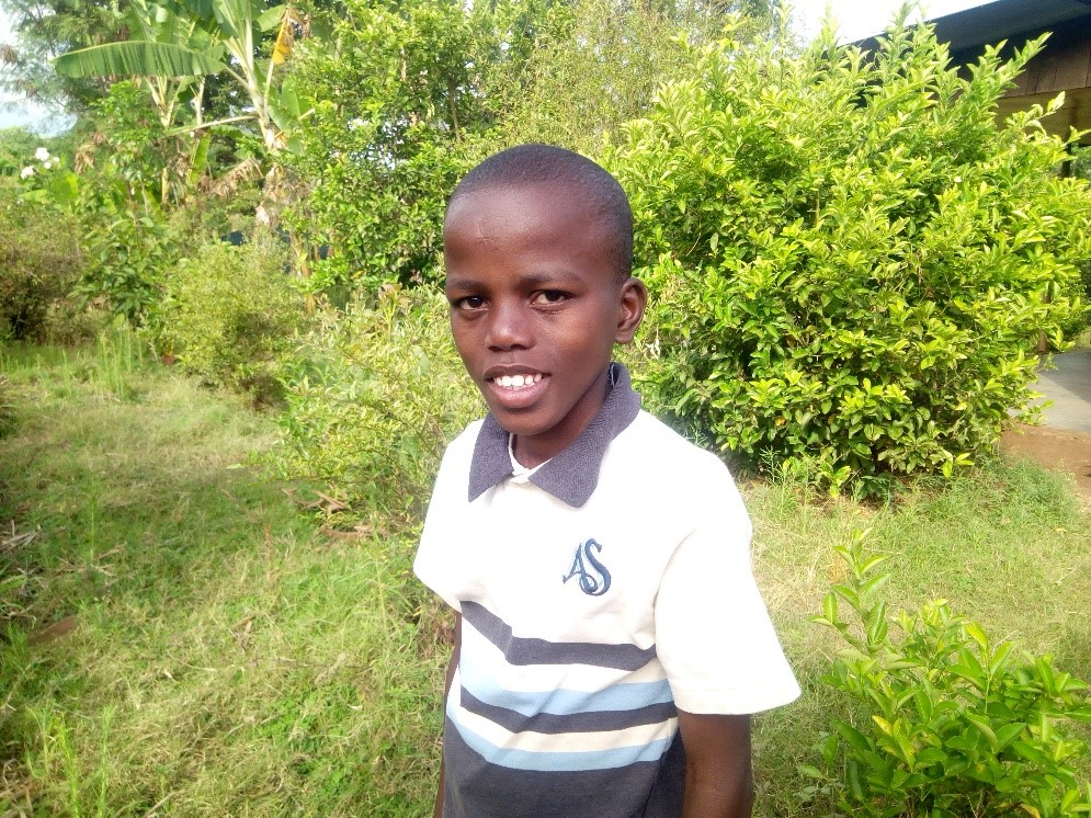 Ally - Jambo! Jambo! My name is Ally, I am 12 years old. I like eating stiff porridge with beef. I enjoy doing Yoga and learn English. What makes me happy is to see my mother. I don't enjoy when I see my young sister unhappy. When I grow up I would like to become a teacher.
