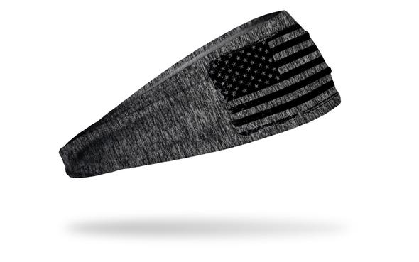 Gray Headband - has INGOAUX Duty, Honor, Service over black flag stripes