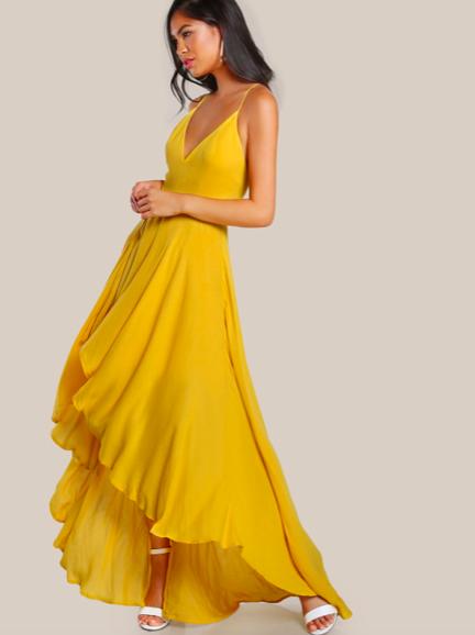 Backless Hi-Lo Cami Dress