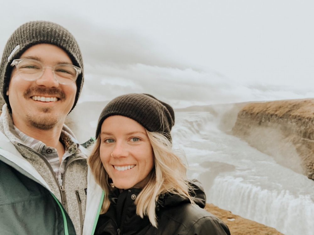 lovers at gulfoss