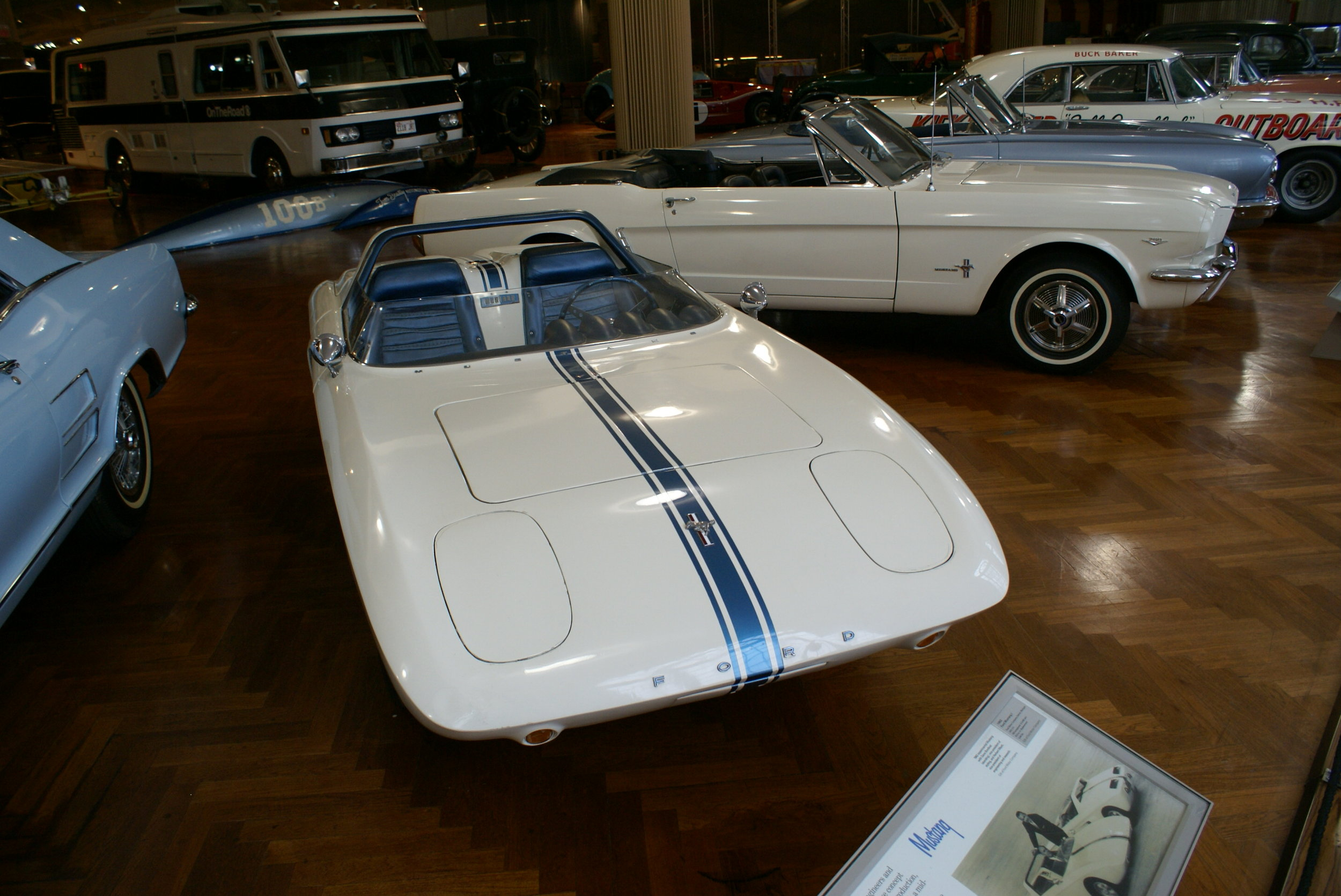 Mustang prototype with first Mustang behind.JPG