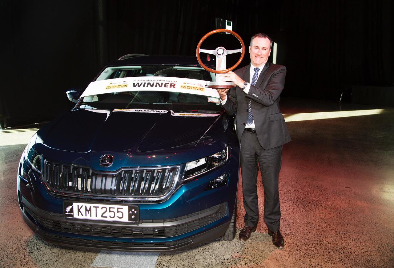 Skoda General Manager Greg Leet celebrates the Kodiaq's 2017 Car of the ....jpeg