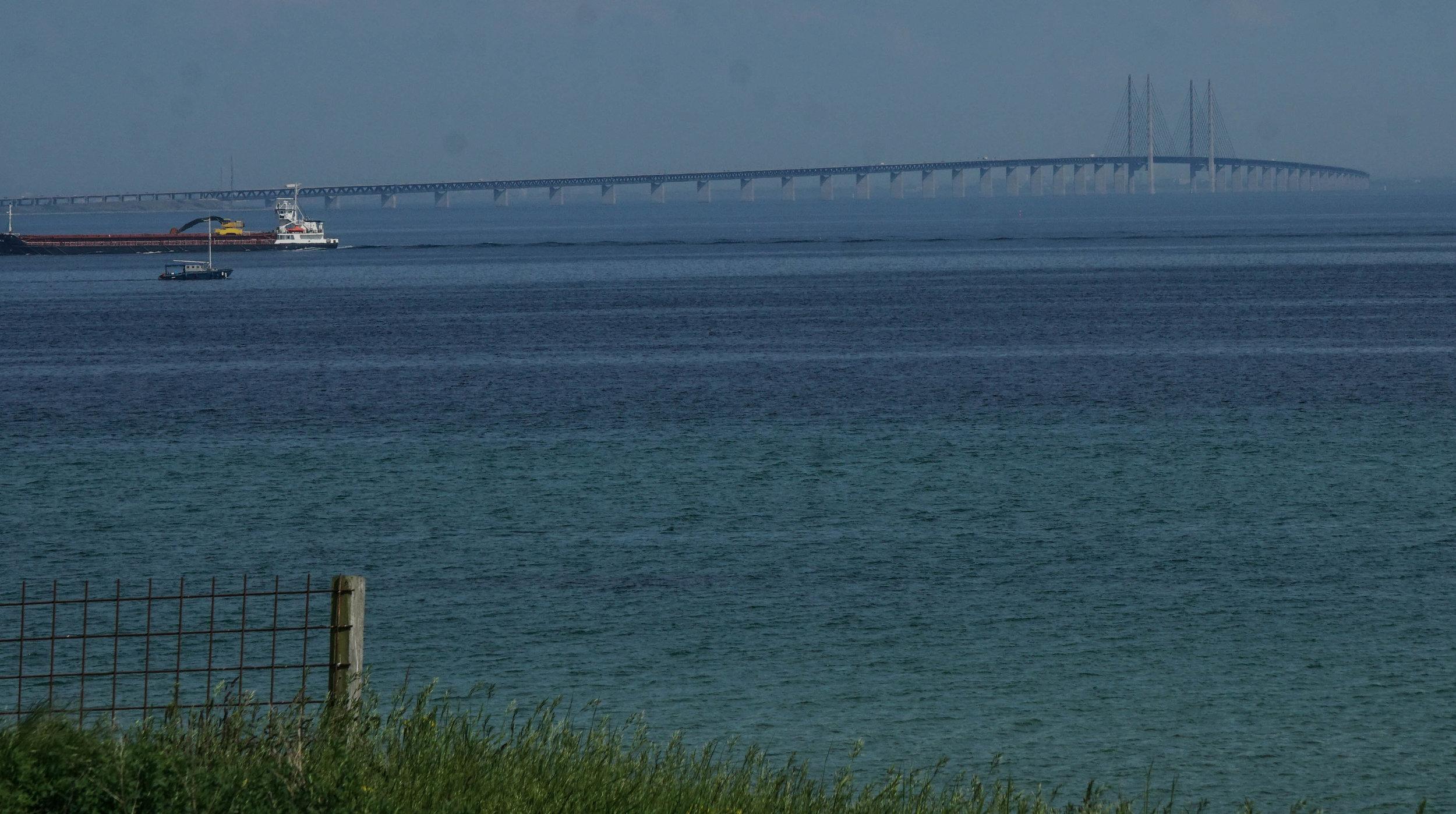 Bridge from Denmark to Sweden, seen from Denmark