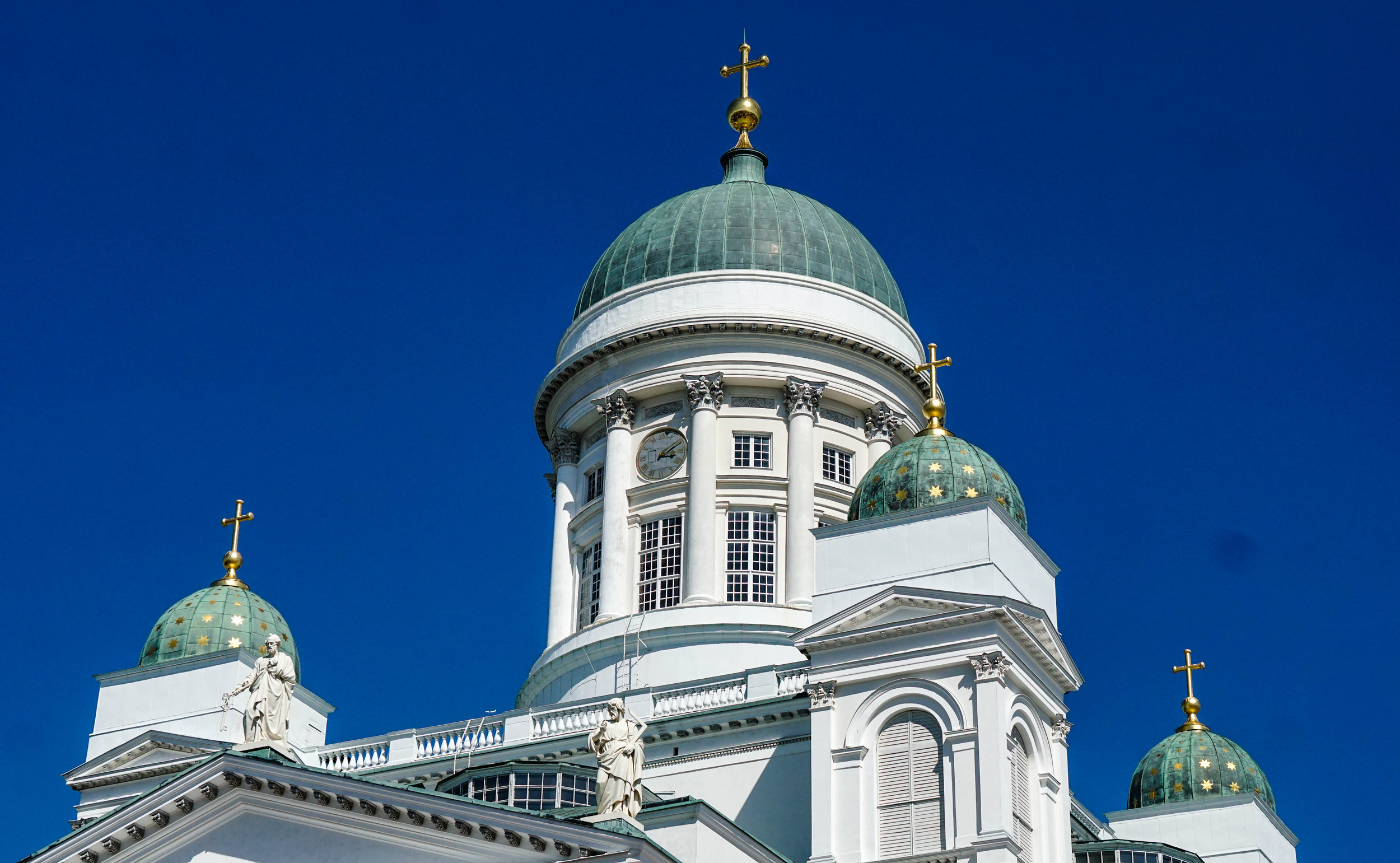 The Lutheran Cathedral on Senate Square in Helsinki, like a beacon to find the city.