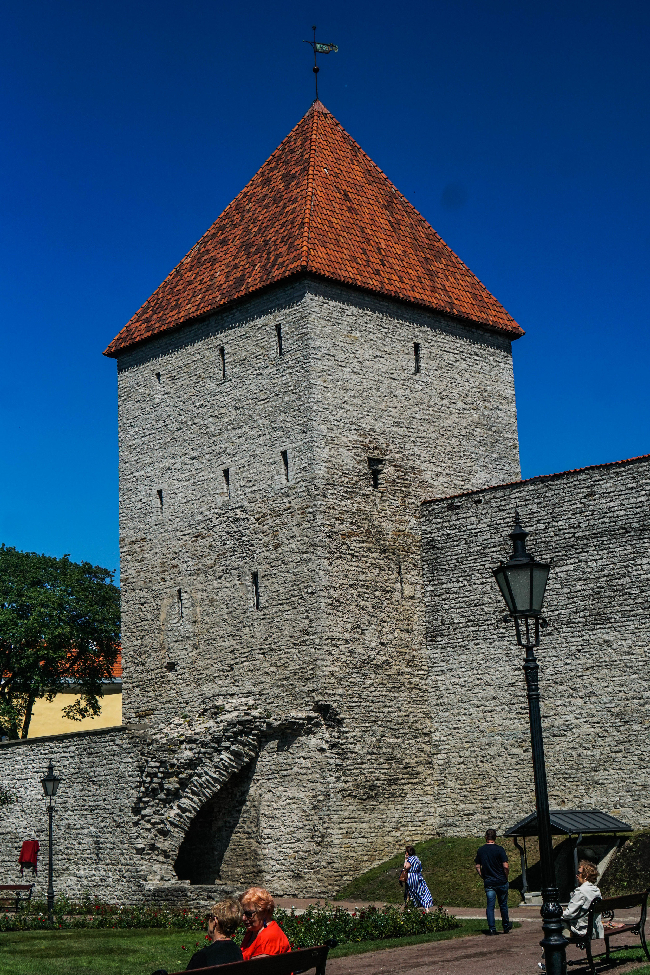 Tower in the walled city.