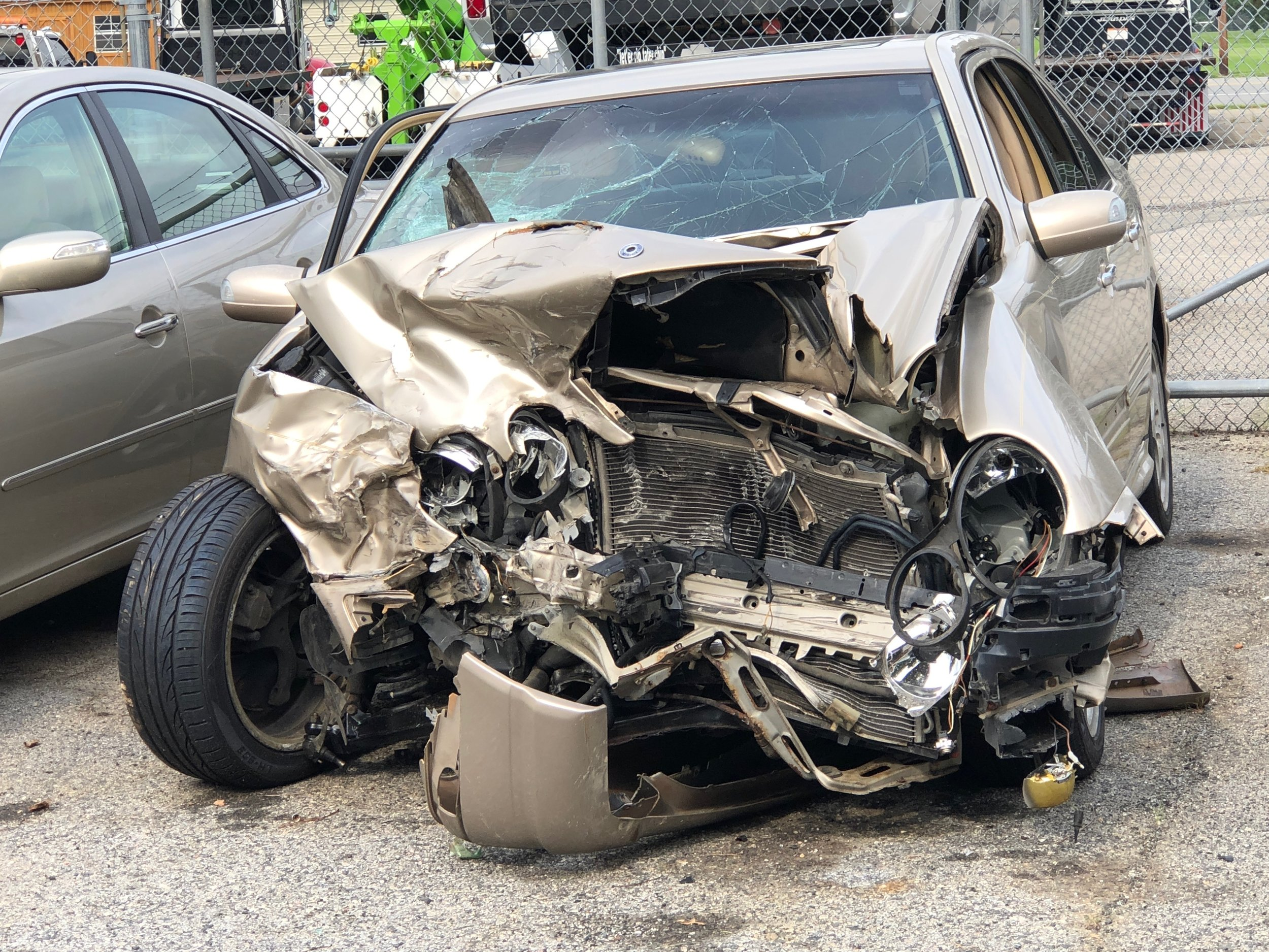 The car that hit Heather's car, also at the wrecker