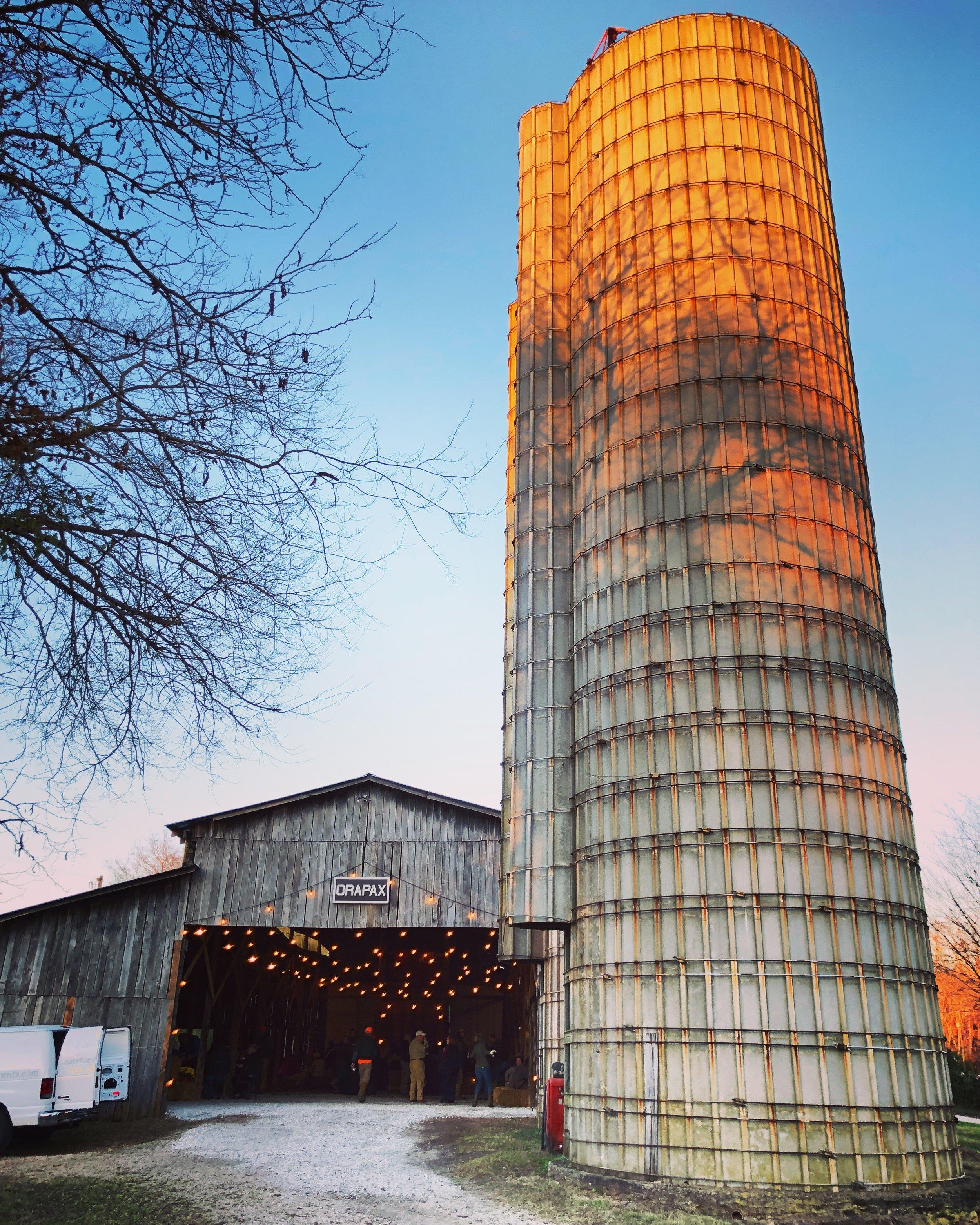 The barn warmed