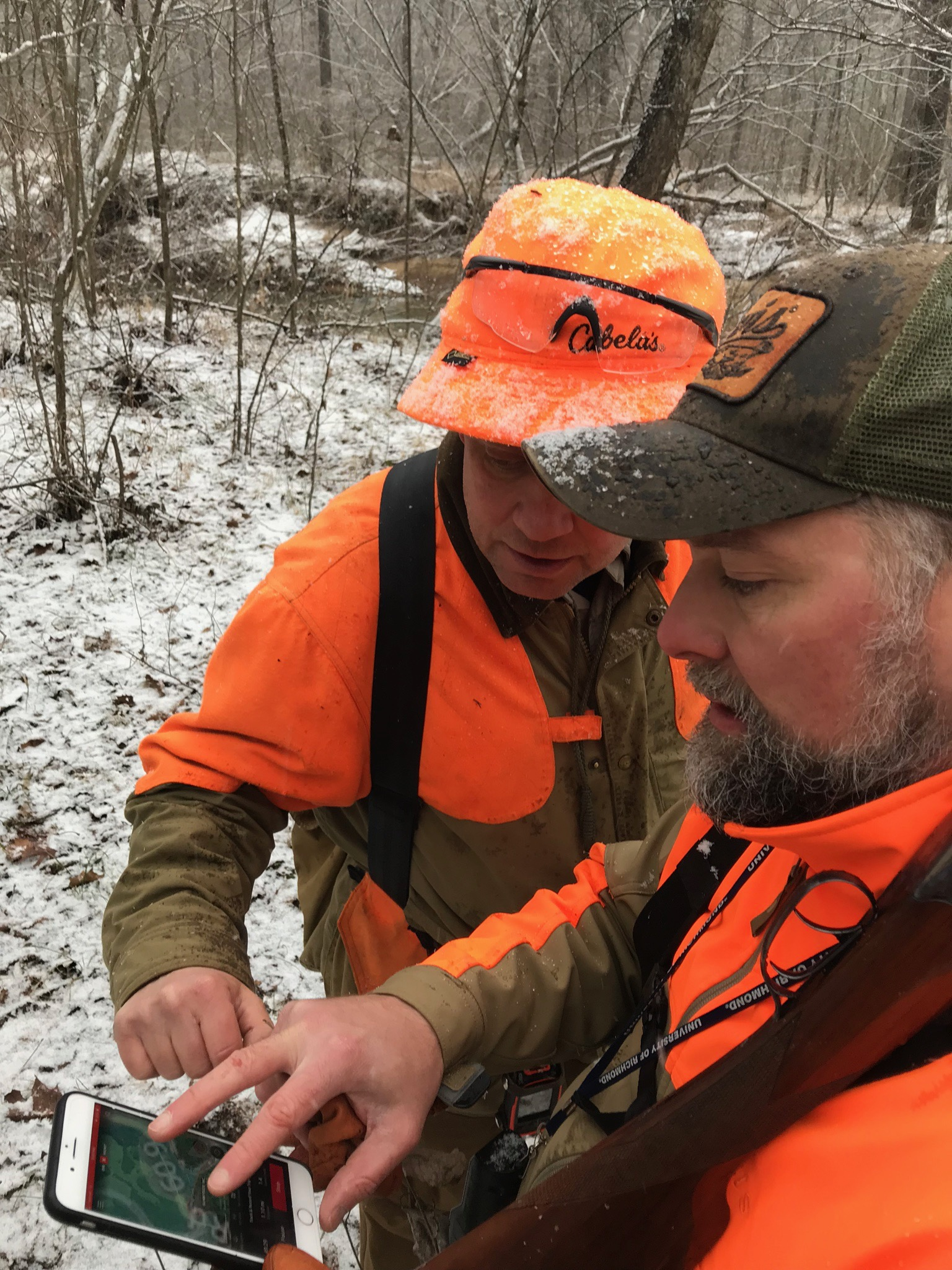 Finding our way back to the most productive coverts using  OnX GPS hunting app