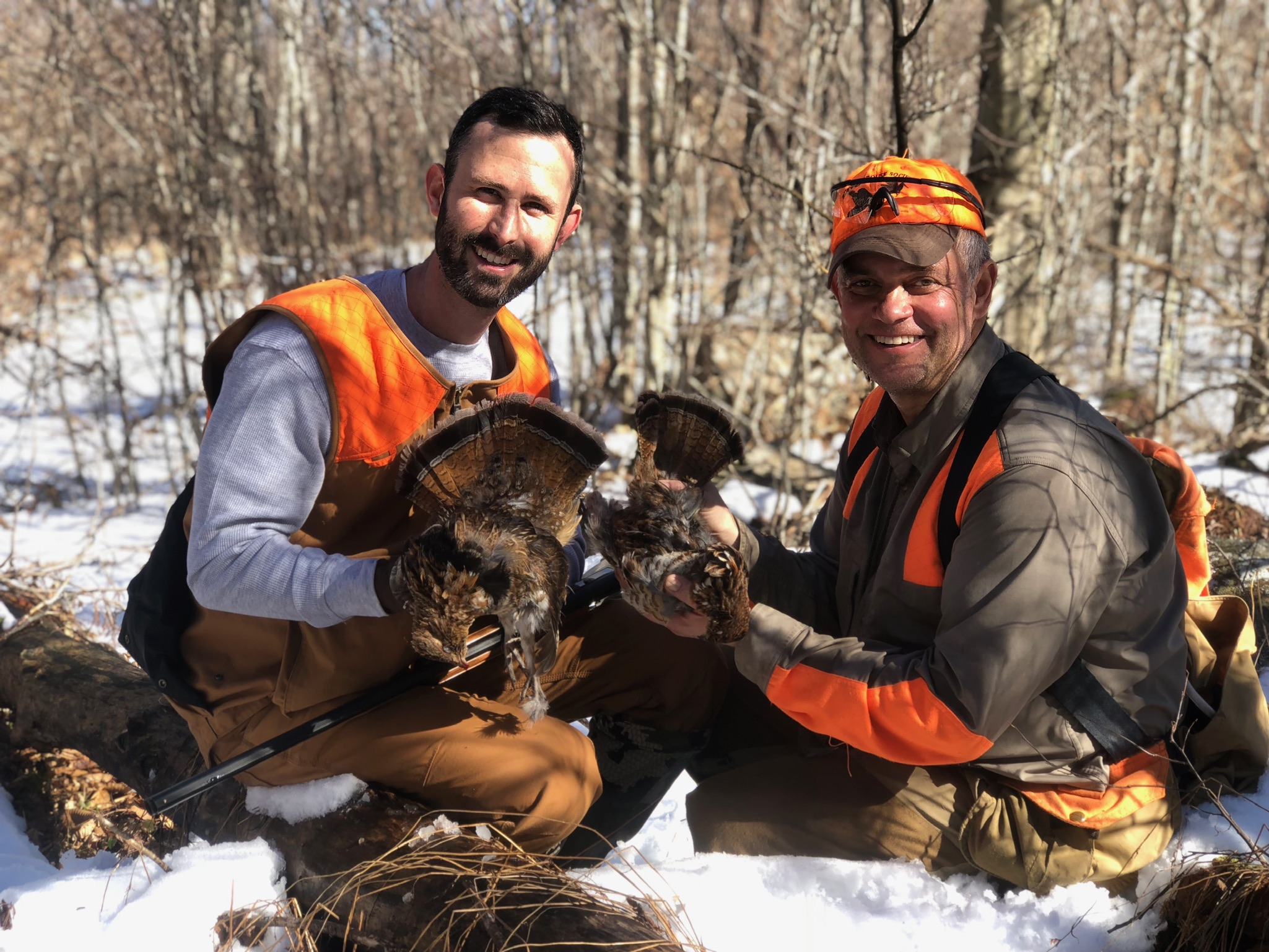 Justin and Chip with grouse harvest (photo credit: Cort Grubb)