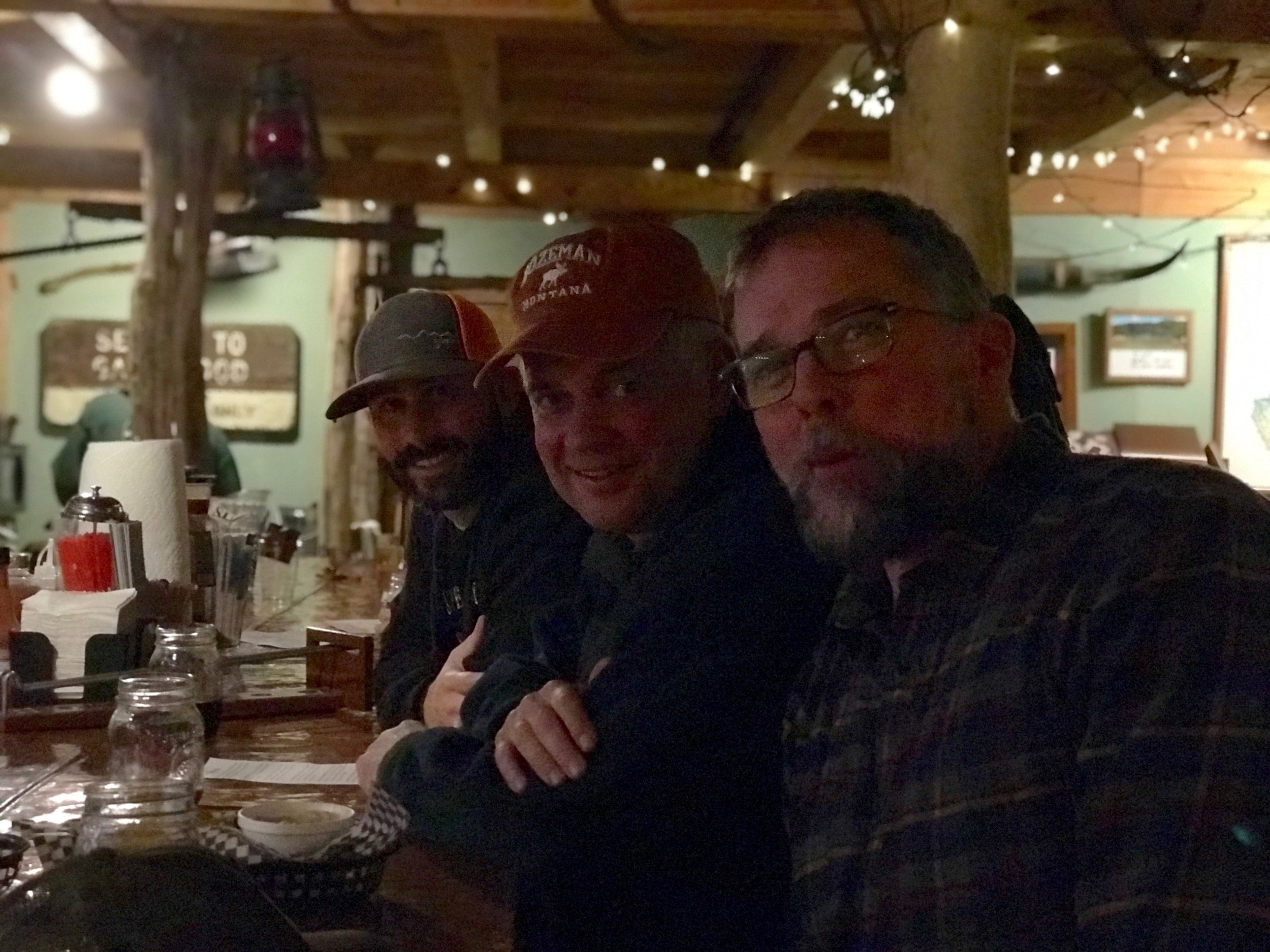 Celebrating the end of a first celestial day of friendship and adventure in a terrific West Virginian mountain town brewery (photo credit: John Feasel /  Arrowhead Outdoors )